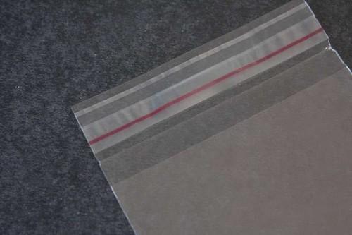 saco com aba adesiva transparente