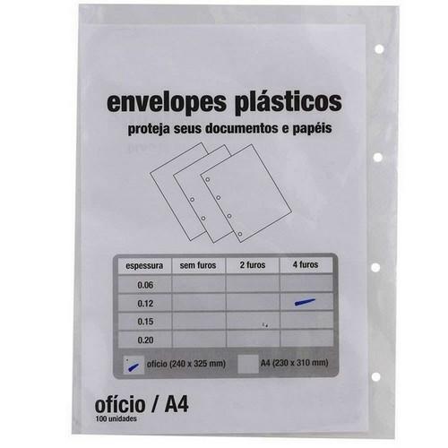 saco plástico 4 furos
