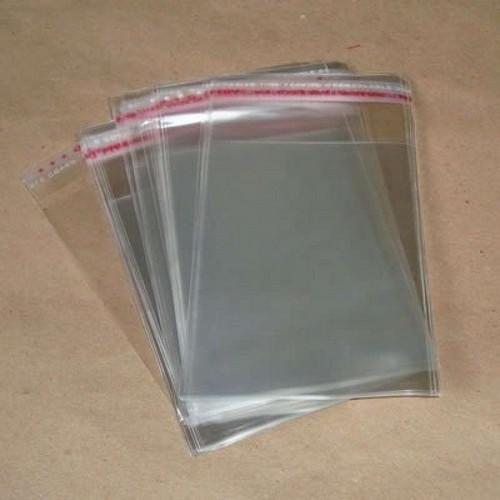 saco plástico com aba adesiva