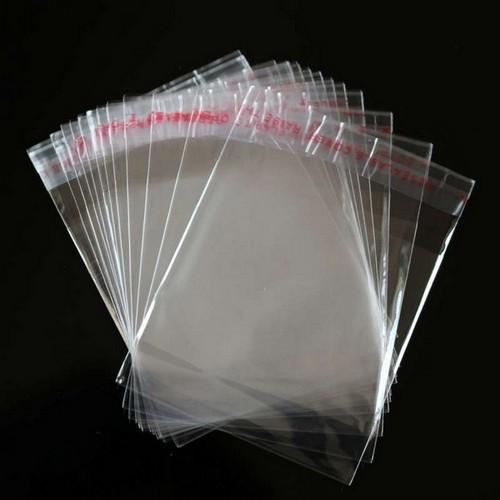 Saquinho transparente com adesivo